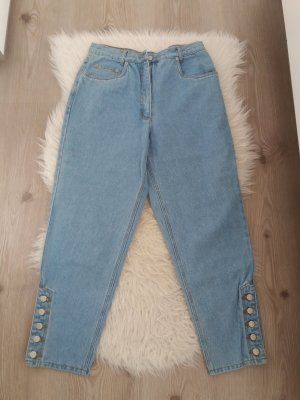 John Baner Pantalone peg-top azzurro