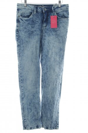 John Baner Straight-Leg Jeans blau-himmelblau Washed-Optik