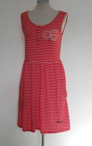 John Bauer Sommer Kleid kurz Gr. S M 36 38 rot weiß gestreift neu