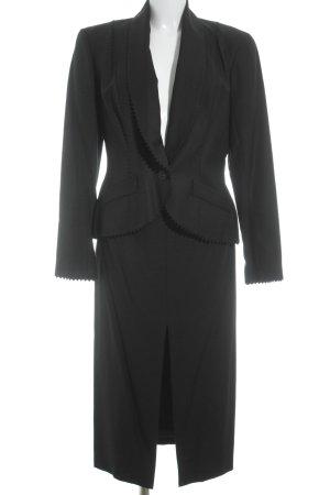 John Galliano Kostüm schwarz Business-Look