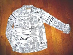 JOHN GALLIANO Newspaper Gazette Hemd XS
