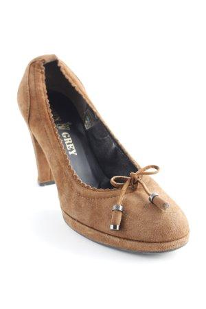 John Grey High Heels braun Casual-Look
