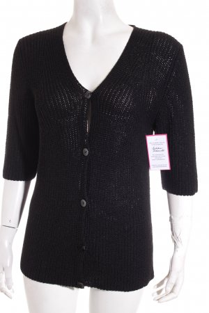 John Lord Strickjacke schwarz Casual-Look