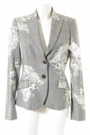 John Richmond Long-Blazer grau-hellbeige Motivdruck Business-Look