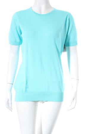 John Smedley Strickshirt türkis minimalistischer Stil