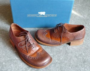 John W. Shoes Halbschuhe Budapester , zweifarbig-braun, Größe 39