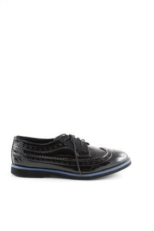 johnnieb Schnürschuhe schwarz-blau Business-Look