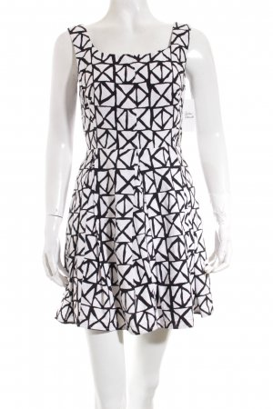Johnny Dexter A-Linien Kleid schwarz-weiß abstraktes Muster Street-Fashion-Look