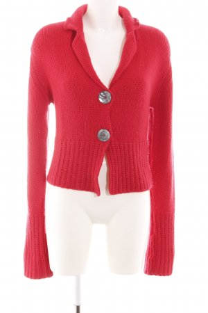 Johnstons cashmere Coarse Knitted Jacket red casual look