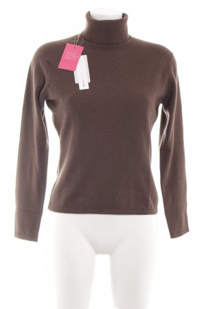 Johnstons cashmere Coltrui bruin gestippeld casual uitstraling