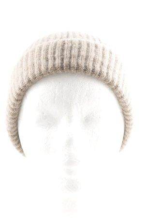 Johnstons cashmere Cappello a maglia marrone chiaro puntinato stile casual
