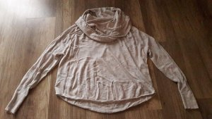 Joie Pullover Pulli Strick Knit Feinstrick Kaschmir Nude Wasserfall Rollkragen