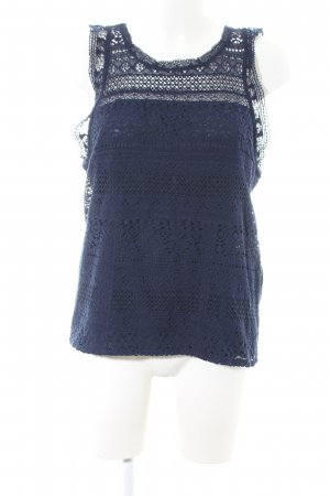 Joie Spitzentop blau Casual-Look