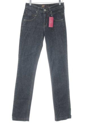 Joker Hoge taille jeans donkerblauw gestippeld vintage uitstraling
