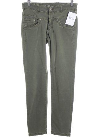 Joker Röhrenjeans olivgrün Jeans-Optik