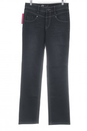 Joker Straight-Leg Jeans schwarz Washed-Optik