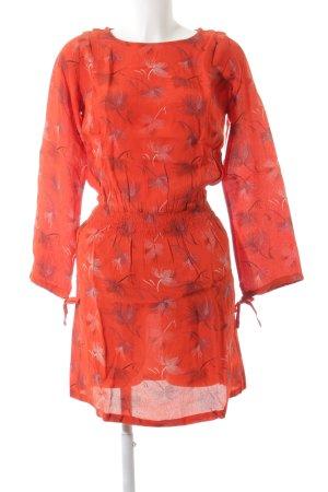 jolie jolie Minikleid rot florales Muster Casual-Look