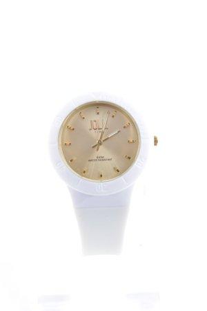 Jolli Time Analoog horloge wolwit-goud simpele stijl