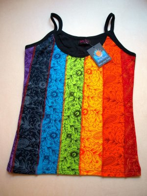 Strappy Top multicolored cotton