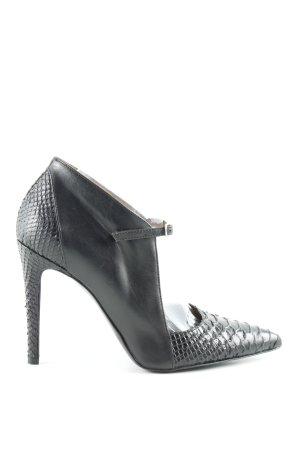 Jonak High Heels schwarz Animalmuster Elegant