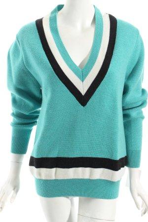 Jonathan saunders V-Ausschnitt-Pullover mehrfarbig College-Look