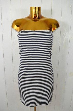 JONATHAN SIMKHAI Damen Kleid Bustierkleid Jersey Blau Weiß Gestreift Gr.L
