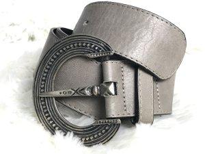 Jones Faux Leather Belt grey brown