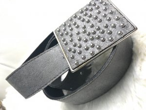 Jones Leather Belt dark grey leather