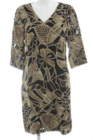 Jones Vestido línea A estampado con diseño abstracto estilo extravagante