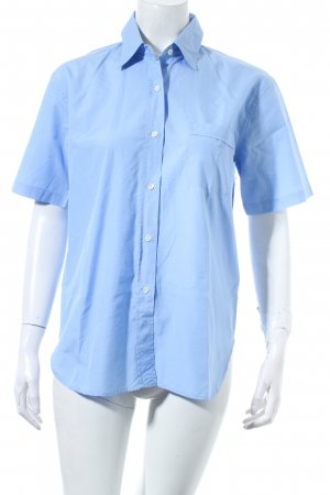 Jones Armstrong Kurzarm-Bluse hellblau Business-Look