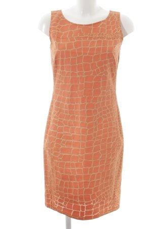 Jones Vestido ceñido de tubo naranja claro estampado de animales elegante