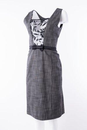 JONES - Graumeliertes Kleid mit Spitzeneinsatz und Schleife
