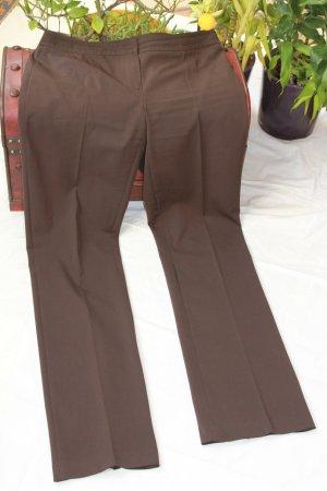 Jones Pantalon strech brun noir polyester