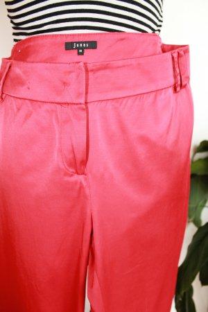 Jones Pantalone a vita alta rosso Poliammide