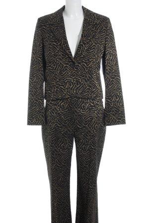 Jones Tailleur pantalone nero-oro motivo astratto stile professionale