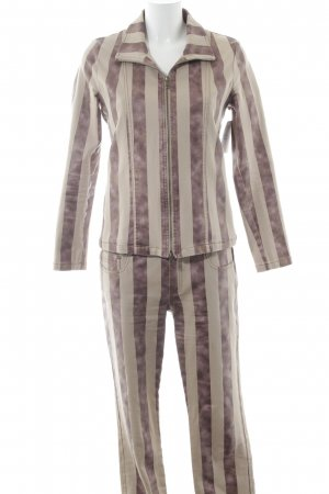 Jones Tailleur pantalone motivo a righe stile stravagante