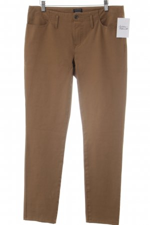 Jones Pantalone a vita bassa marrone stile casual