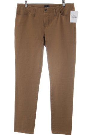 Jones Pantalone a vita bassa marrone stile casual