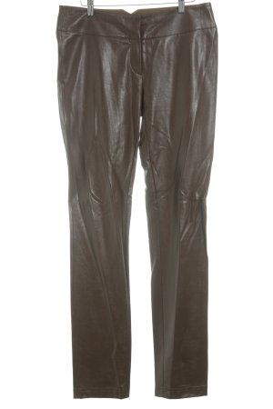 Jones Pantalone a vita bassa marrone stile semplice