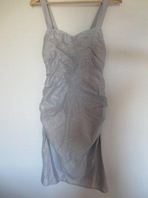 Jones Kleid in blau-Silber, Gr. 34, Träger, selten getragen