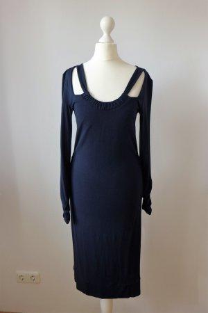 Jones Kleid Stretch Abendkleid Ausschnitt dunkelblau Gr. 36 S