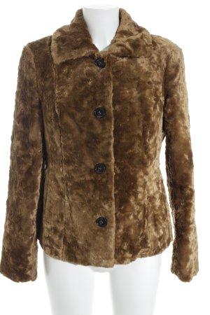 Jones Fake Fur Jacket brown street-fashion look