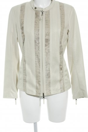 Jones Faux Leather Jacket cream-pale yellow extravagant style