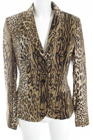 Jones Kurz-Blazer schwarz-hellbraun Animalmuster Animal-Look