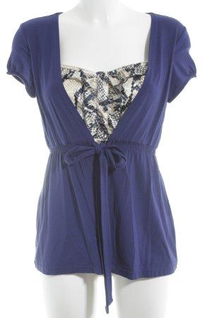 Jones Kurzarm-Bluse blau Elegant