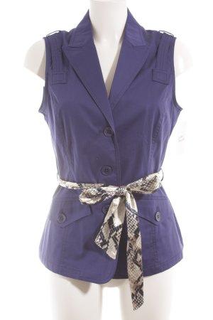 Jones Kurzarm-Bluse blauviolett Casual-Look