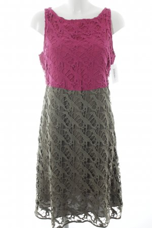 Jones Kurzarmkleid pink-khaki Casual-Look