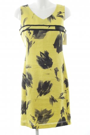 Jones Kurzarmkleid schwarz-gelb Blumenmuster Romantik-Look