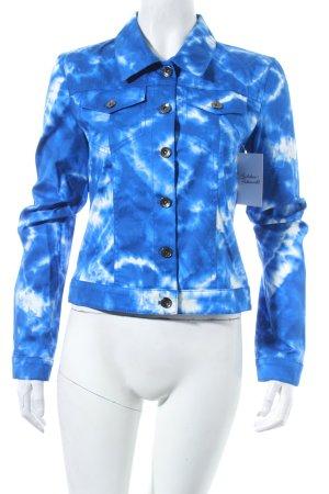 Jones Kurzjacke blau-weiß Farbverlauf Bleached-Optik