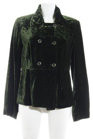 Jones Abrigo corto verde oscuro estampado con diseño de cachemira